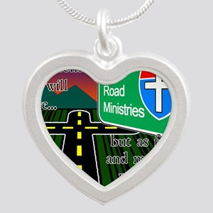 Cross Road Ministries Silver Heart Necklace