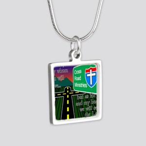 Cross Road Ministries Silver Square Necklace