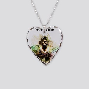 wolverine Necklace Heart Charm