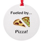 Fueled by Pizza Round Ornament