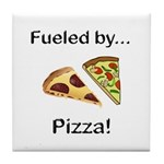 Fueled by Pizza Tile Coaster