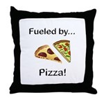 Fueled by Pizza Throw Pillow