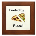 Fueled by Pizza Framed Tile