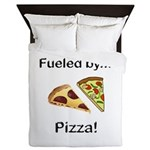 Fueled by Pizza Queen Duvet