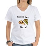 Fueled by Pizza Women's V-Neck T-Shirt
