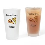 Fueled by Pizza Drinking Glass