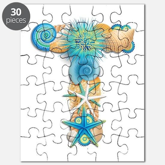 Beach Theme Monogram T Puzzle