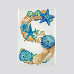 Beach Theme Initial S Rectangle Magnet