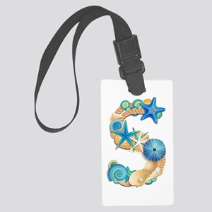 Beach Theme Initial S Large Luggage Tag