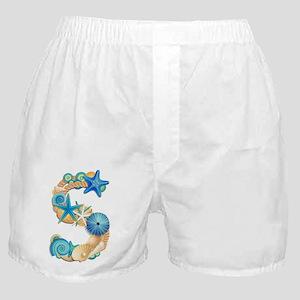 Beach Theme Initial S Boxer Shorts