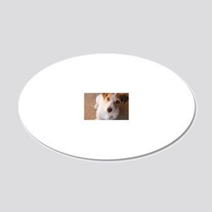 Russell Terrier 20x12 Oval Wall Decal