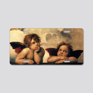 Angels by Raphael, Vintage  Aluminum License Plate