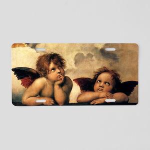 Angels by Raphael, Vintage  Aluminum License Plate