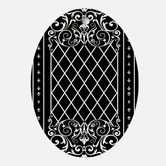 Courtyard White Oval Ornament