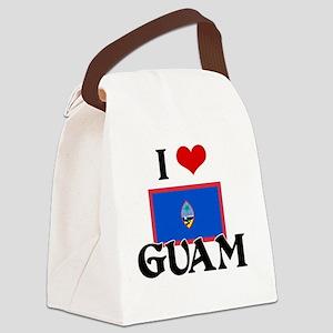 I HEART GUAM FLAG Canvas Lunch Bag