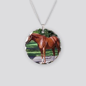 SECRETARIAT Necklace Circle Charm