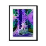 Abstract Rose Birds Framed Panel Print