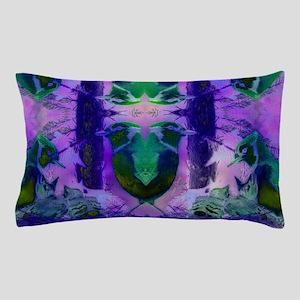 Abstract Rose Birds Pillow Case