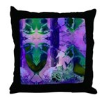 Abstract Rose Birds Throw Pillow