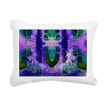 Abstract Rose Birds Rectangular Canvas Pillow