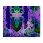 Abstract Rose Birds Throw Blanket