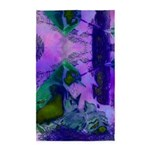 Abstract Rose Birds 3'x5' Area Rug