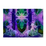 Abstract Rose Birds 5'x7'Area Rug