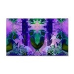 Abstract Rose Birds 20x12 Wall Decal