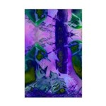 Abstract Rose Birds Mini Poster Print