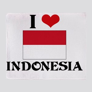 I HEART INDONESIA FLAG Throw Blanket