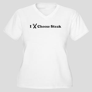 I Eat Cheese Steak Women's Plus Size V-Neck T-Shir
