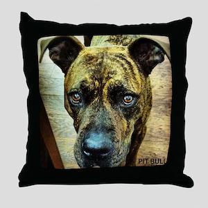 pitbull Throw Pillow