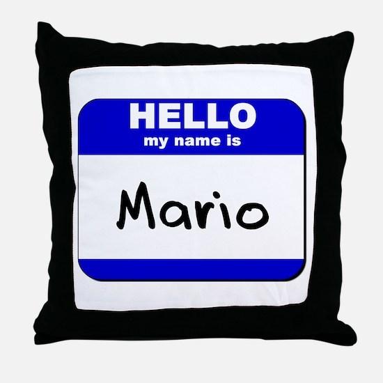 hello my name is mario  Throw Pillow