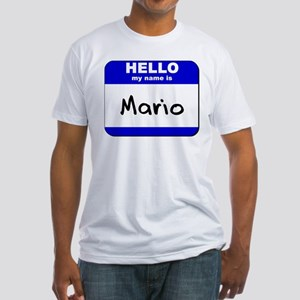 hello my name is mario Fitted T-Shirt