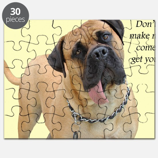 Mastiff Birthday Card Puzzle