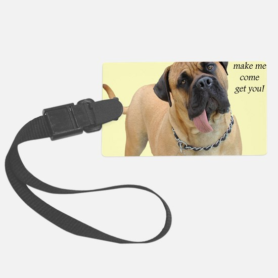 Mastiff Birthday Card Luggage Tag