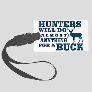 Deer Hunting Humor Large Luggage Tag