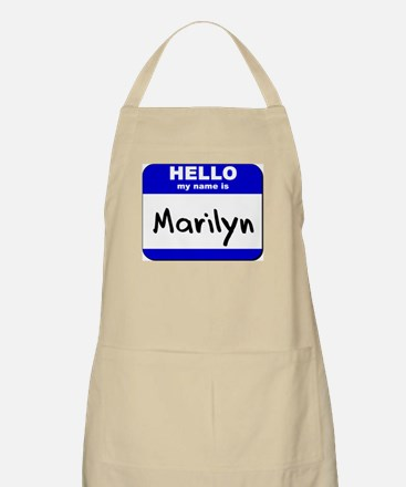 hello my name is marilyn  BBQ Apron