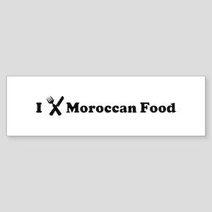 I Eat Moroccan Food Bumper Sticker