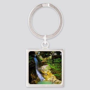 Eden Falls at Lost Valley Square Keychain