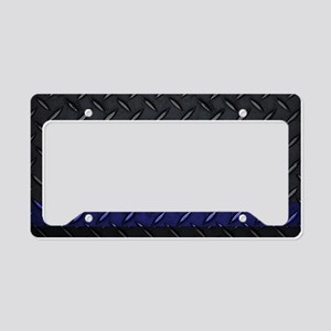 Police Diamond Plate License Plate Holder