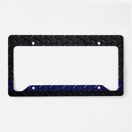 Police Diamond Plate License Plate Holder
