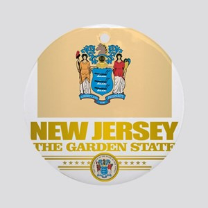 New Jersey Flag Round Ornament