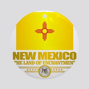 New Mexico Flag Round Ornament