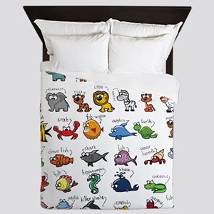 Silly Zoo Animals Queen Duvet