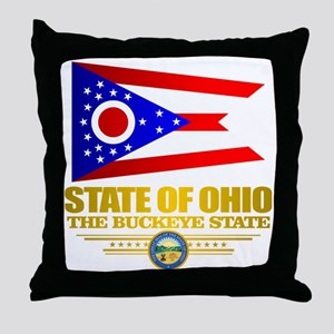 Ohio Flag Throw Pillow
