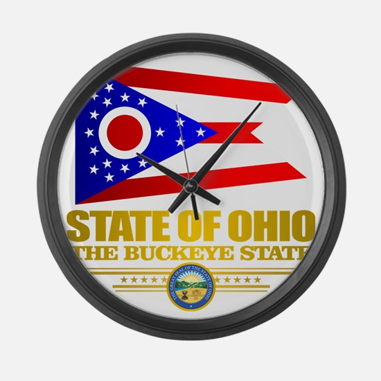 Ohio Flag Large Wall Clock
