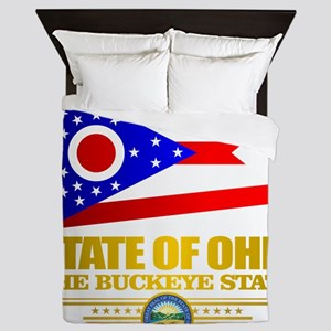 Ohio Flag Queen Duvet