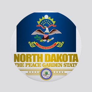 North Dakota Flag Round Ornament
