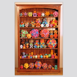 Polyhedron Bookcase Poster (Large)